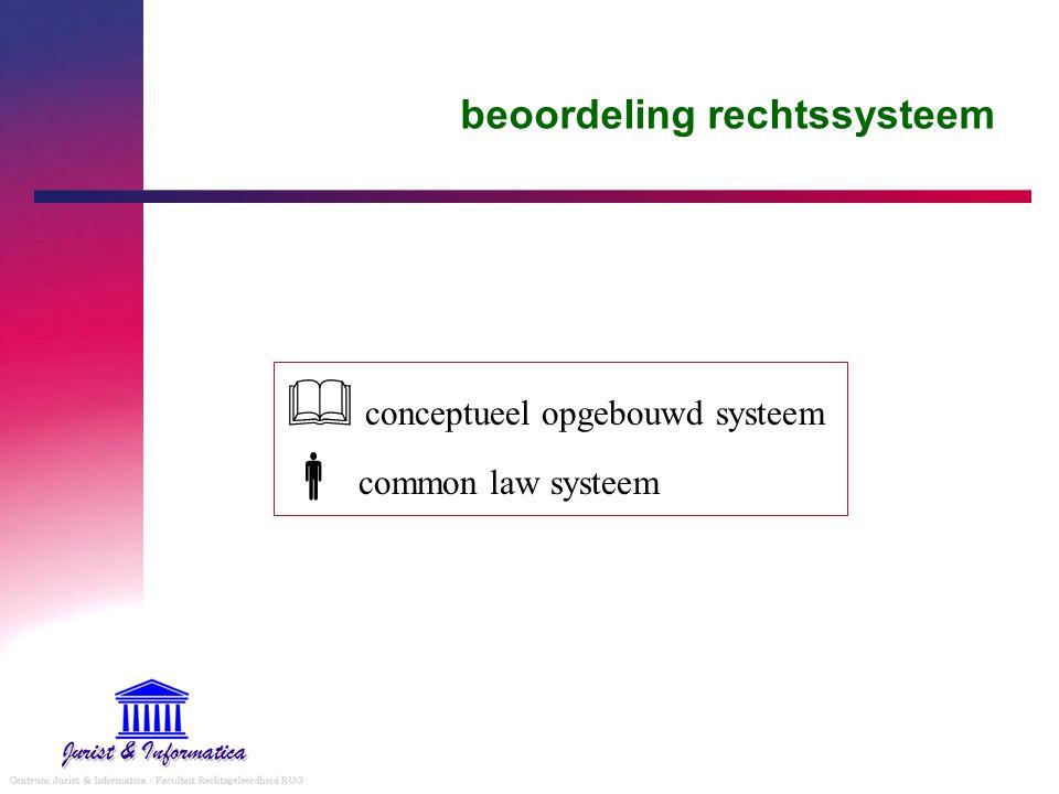 beoordeling rechtssysteem