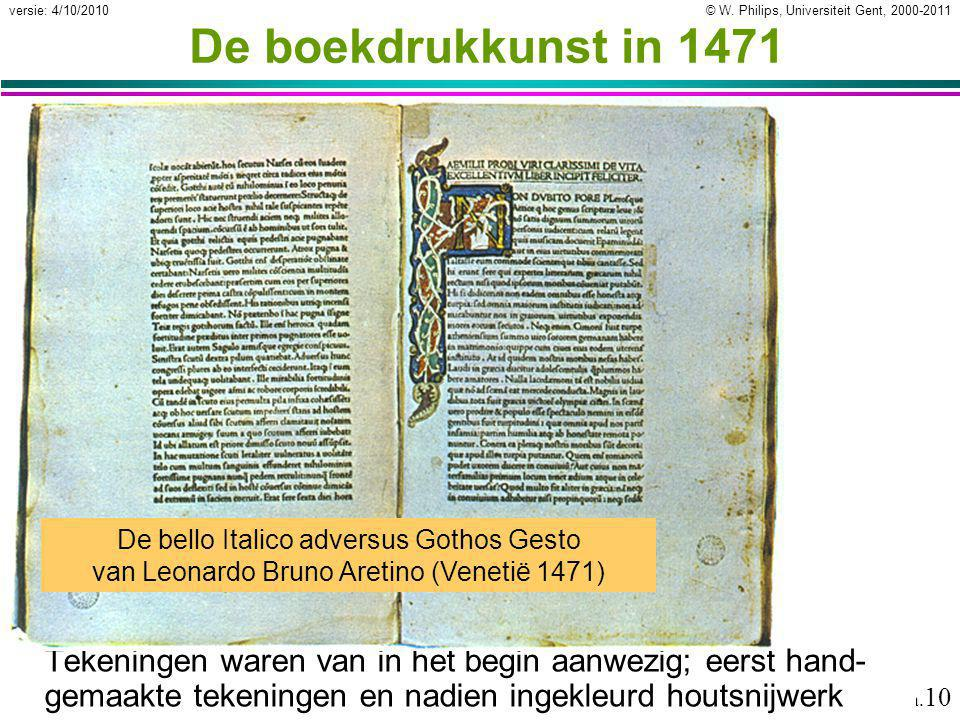 De boekdrukkunst in 1471 De bello Italico adversus Gothos Gesto van Leonardo Bruno Aretino (Venetië 1471)