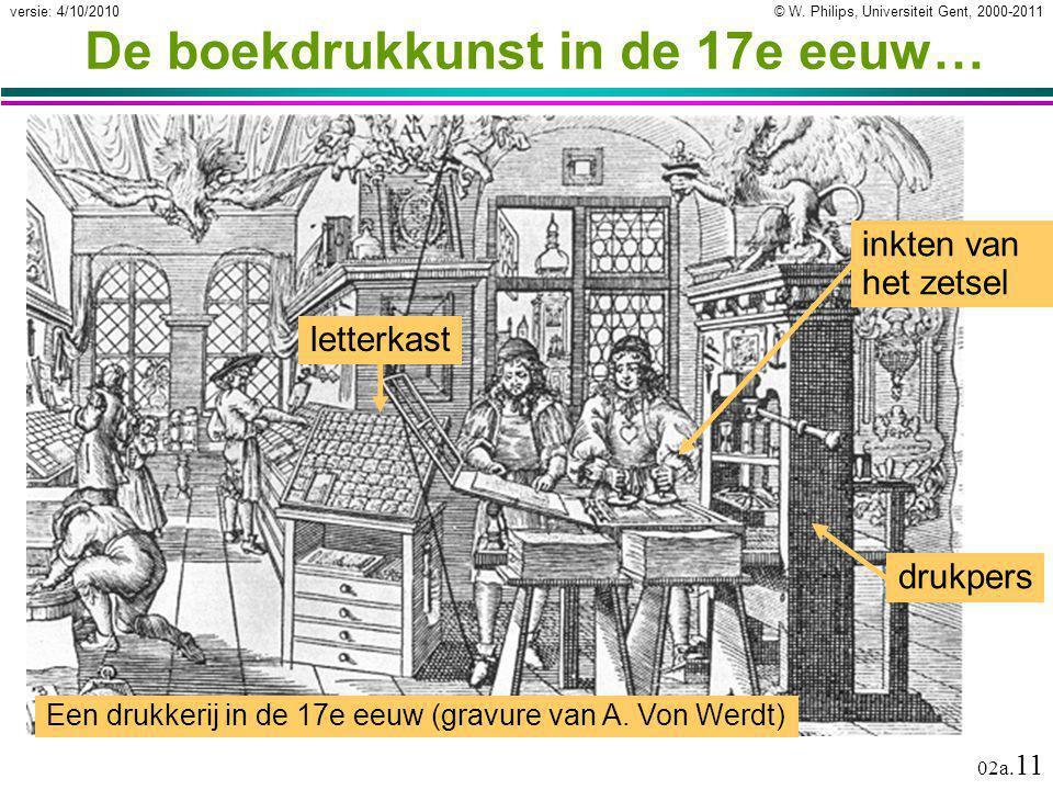 De boekdrukkunst in de 17e eeuw…