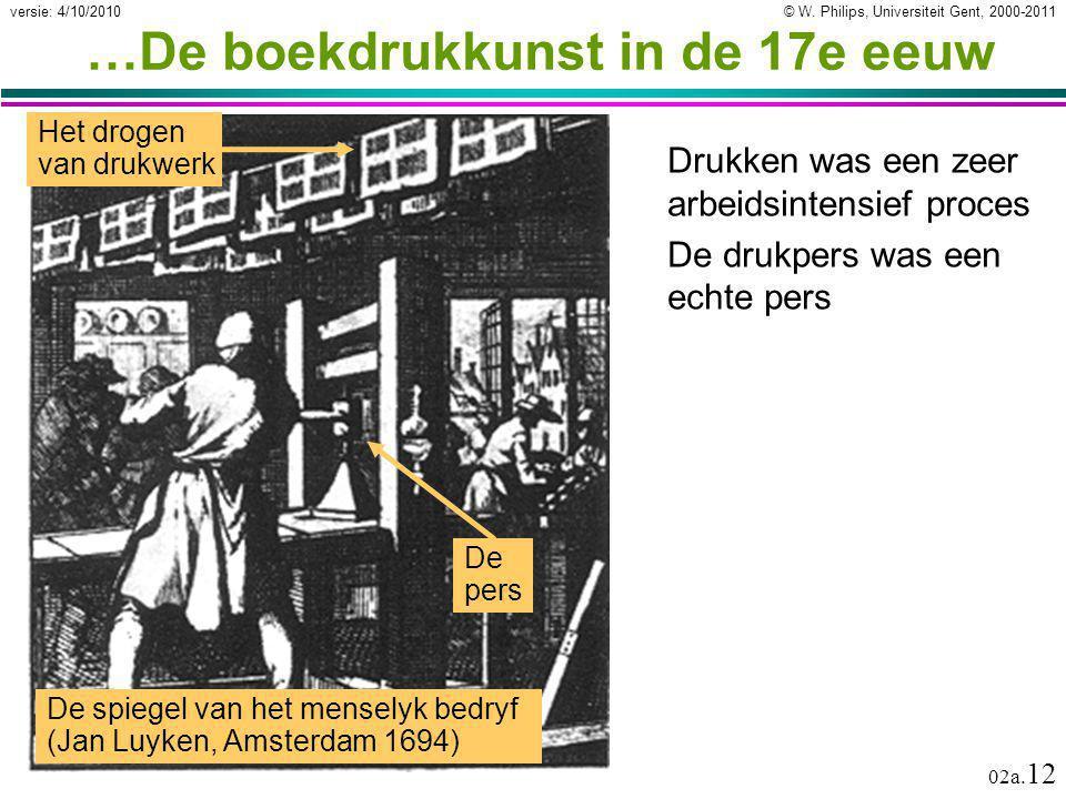 …De boekdrukkunst in de 17e eeuw