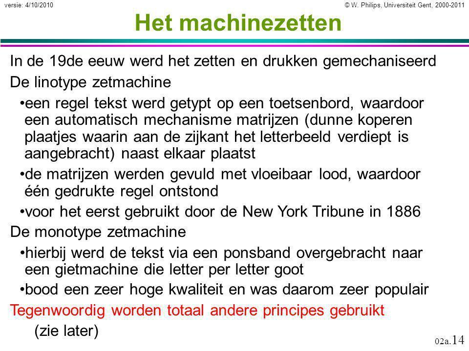 Het machinezetten In de 19de eeuw werd het zetten en drukken gemechaniseerd. De linotype zetmachine.