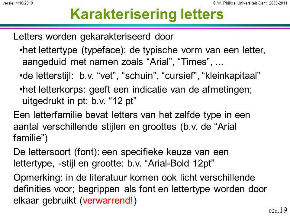 Karakterisering letters