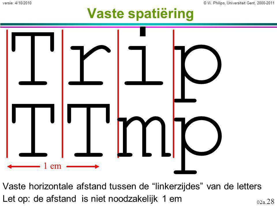 Trip TTmp Vaste spatiëring 1 em