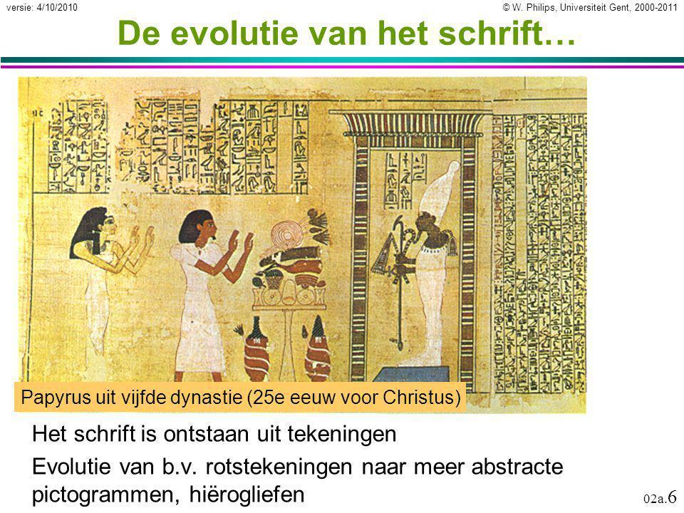 De evolutie van het schrift…