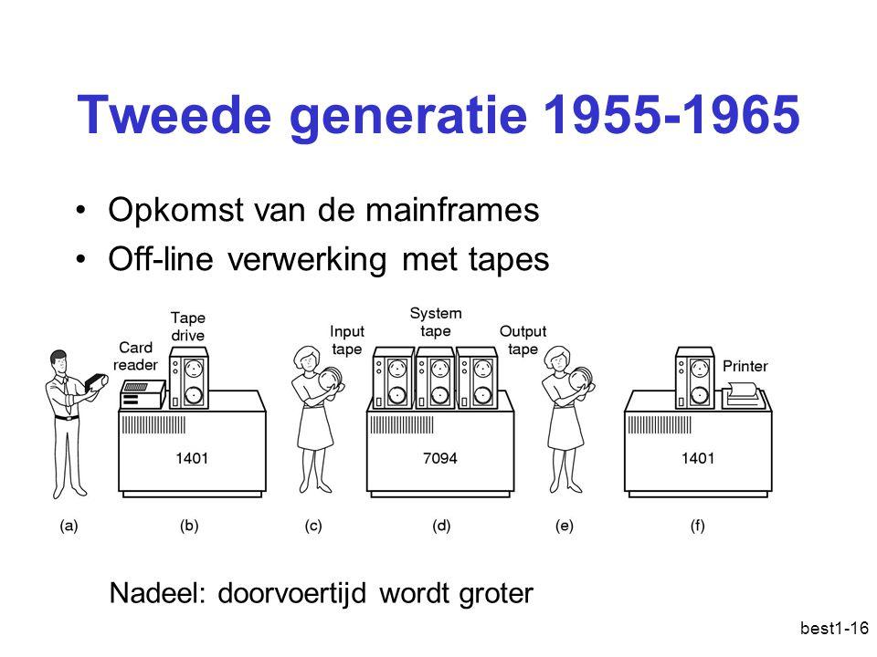 Tweede generatie 1955-1965 Opkomst van de mainframes