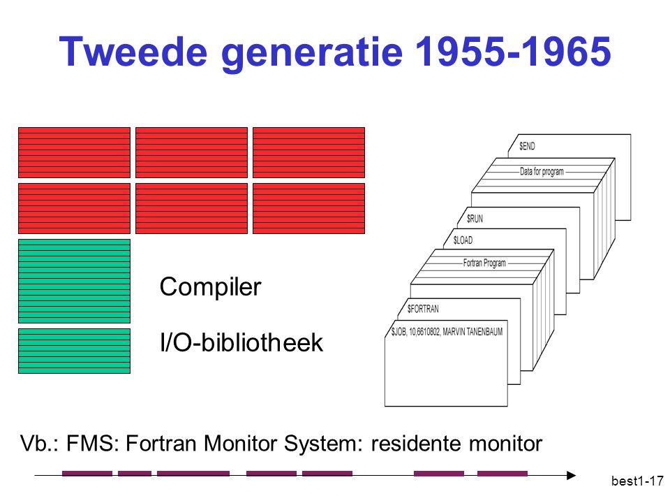 Tweede generatie 1955-1965 Compiler I/O-bibliotheek