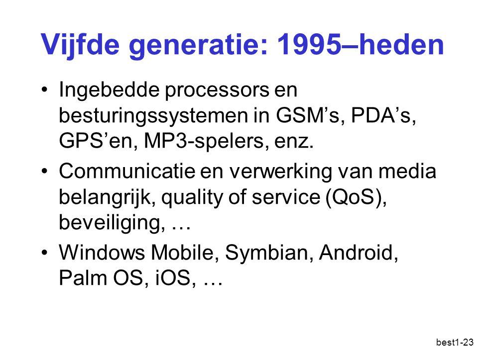 Vijfde generatie: 1995–heden