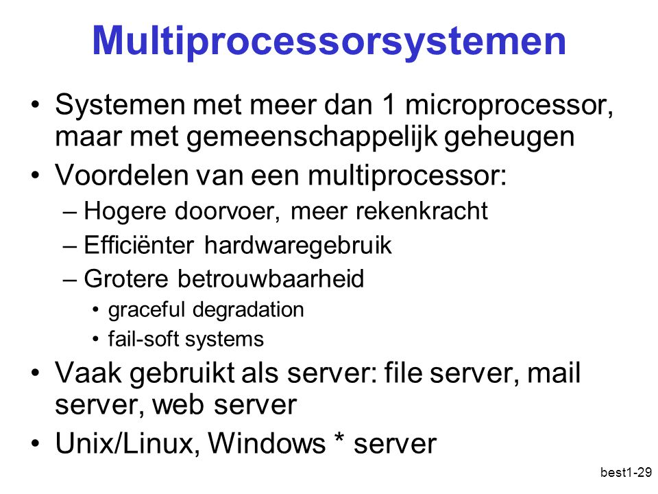 Multiprocessorsystemen