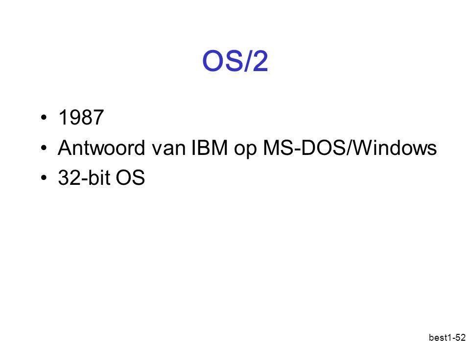 OS/2 1987 Antwoord van IBM op MS-DOS/Windows 32-bit OS