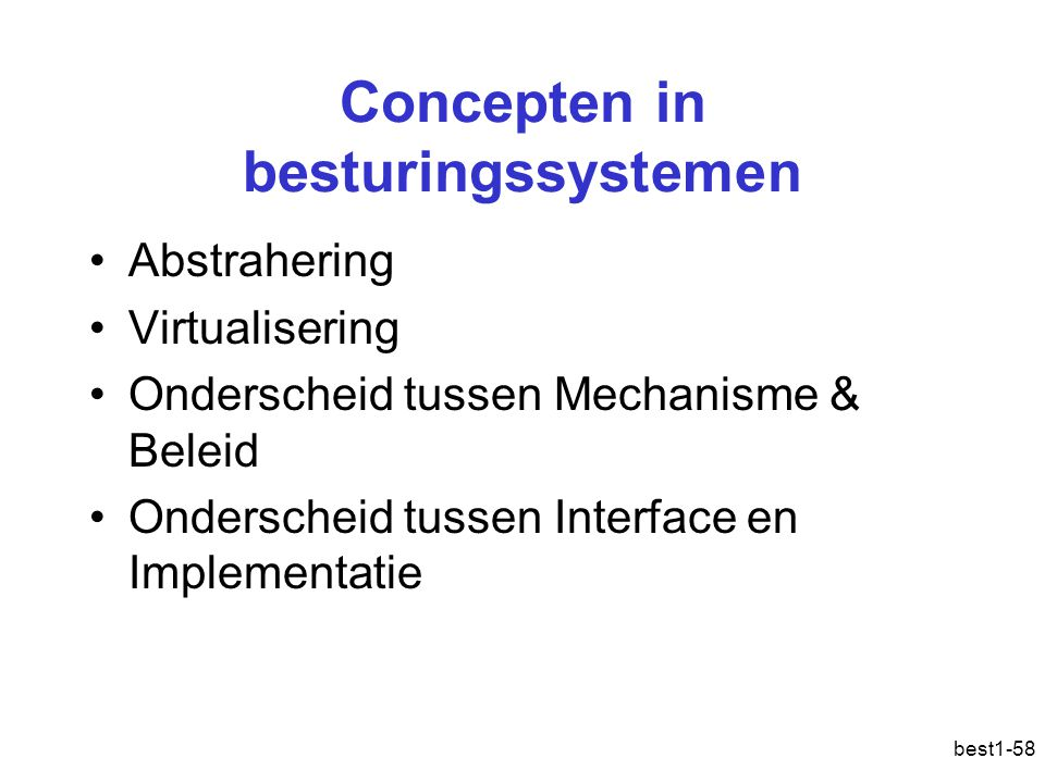 Concepten in besturingssystemen