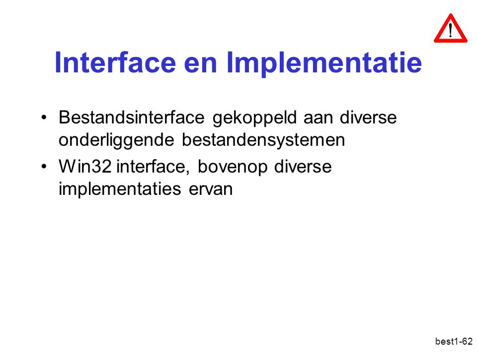 Interface en Implementatie
