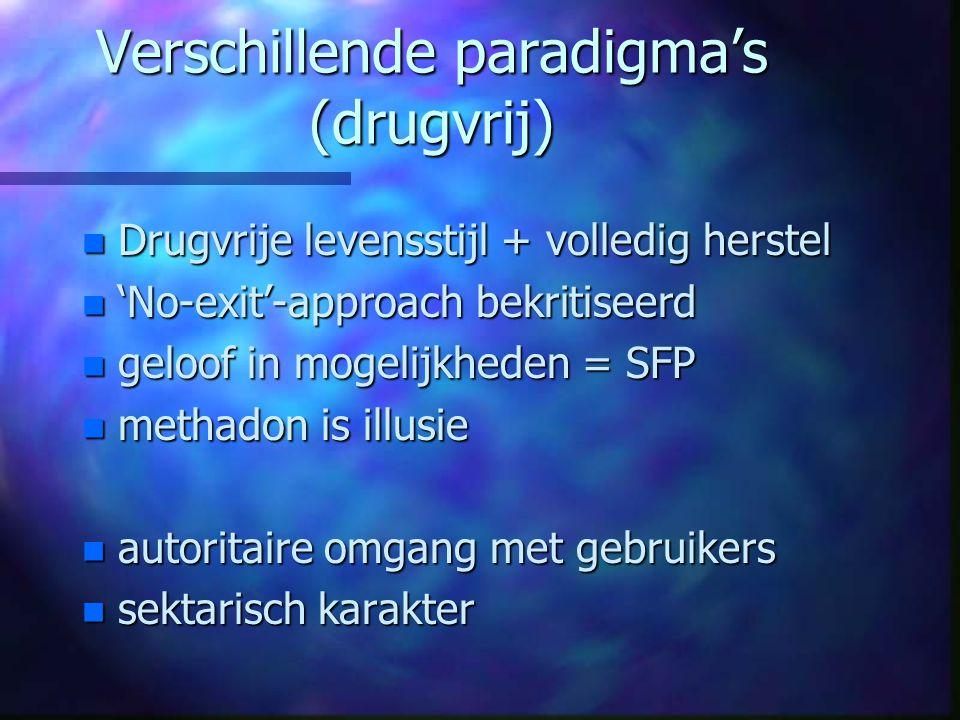 Verschillende paradigma's (drugvrij)