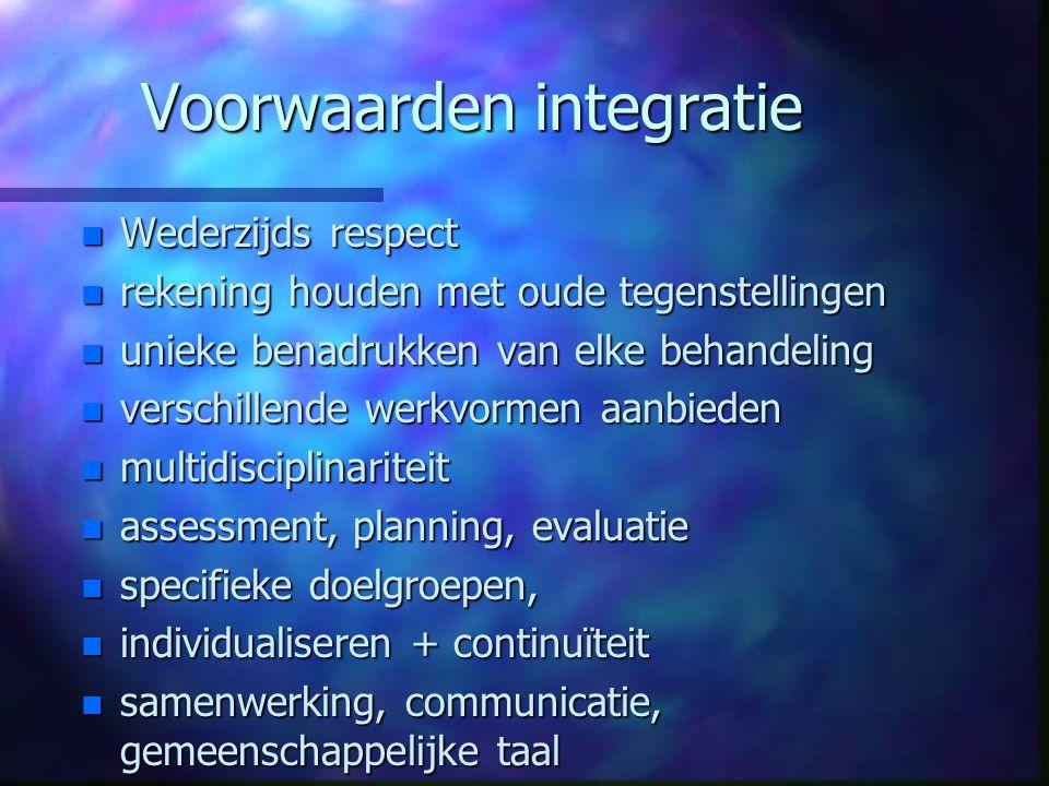Voorwaarden integratie
