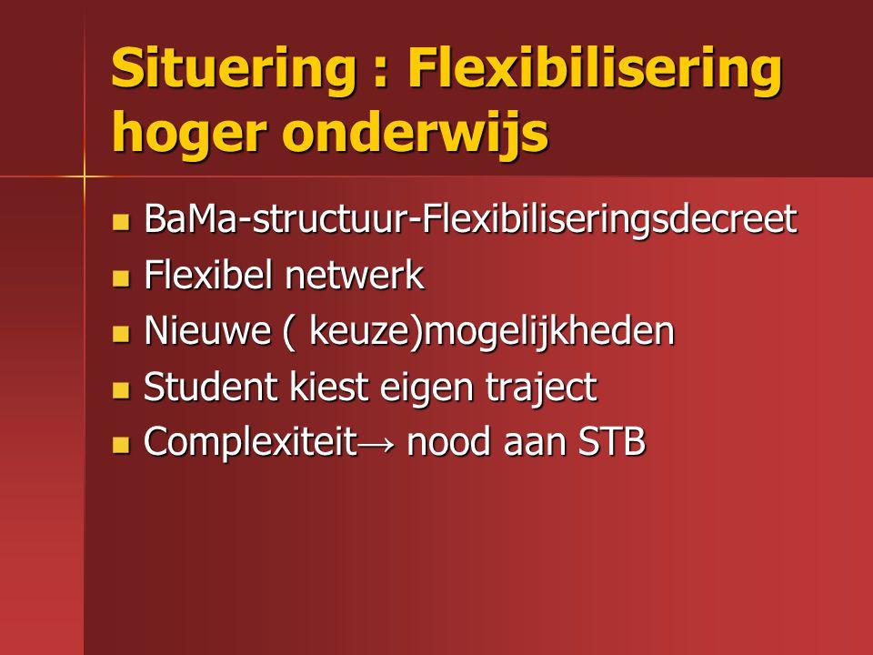 Situering : Flexibilisering hoger onderwijs