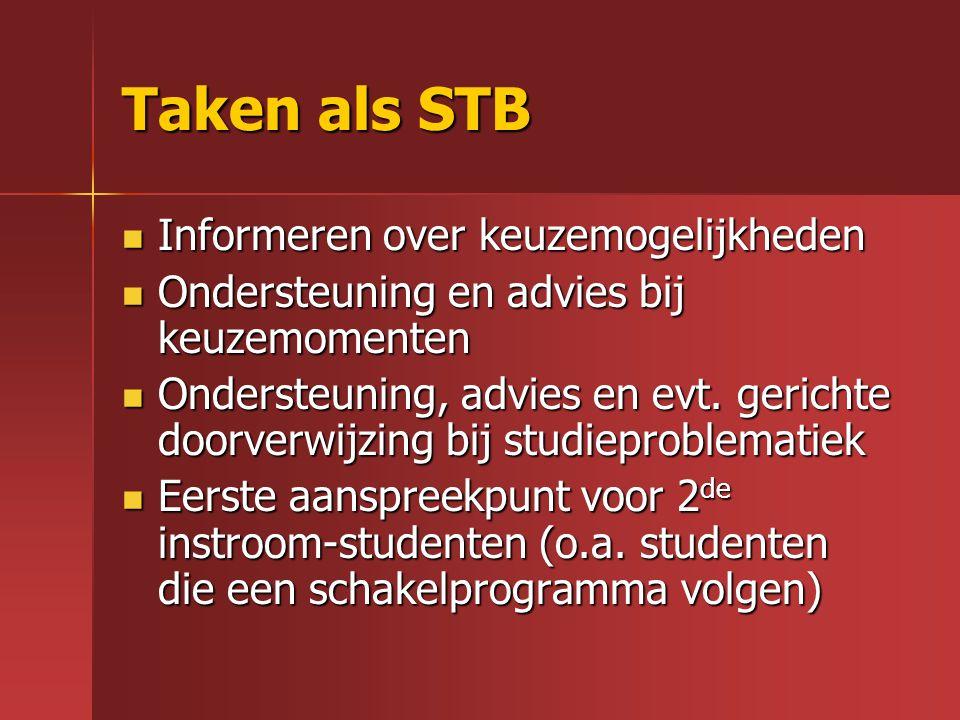 Taken als STB Informeren over keuzemogelijkheden