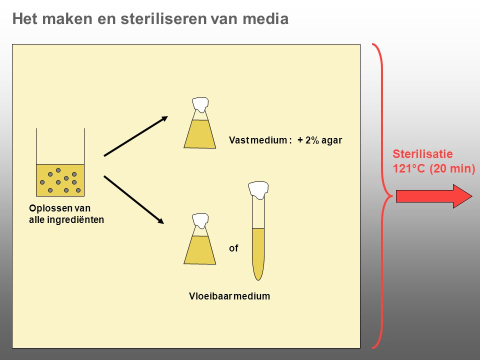 Het maken en steriliseren van media