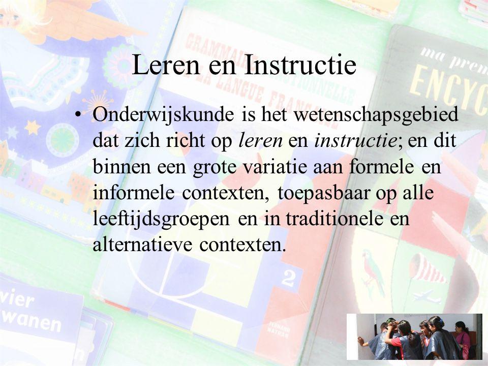 Leren en Instructie