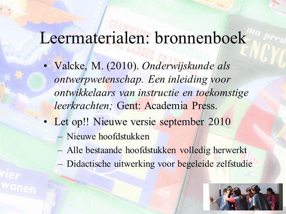 Leermaterialen: bronnenboek