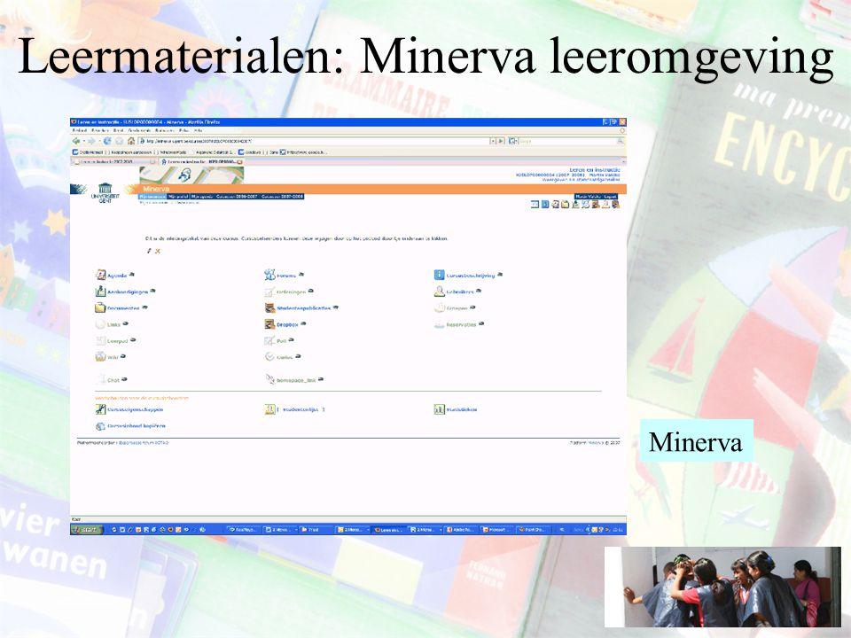Leermaterialen: Minerva leeromgeving