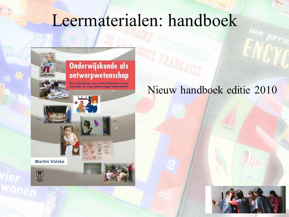 Leermaterialen: handboek