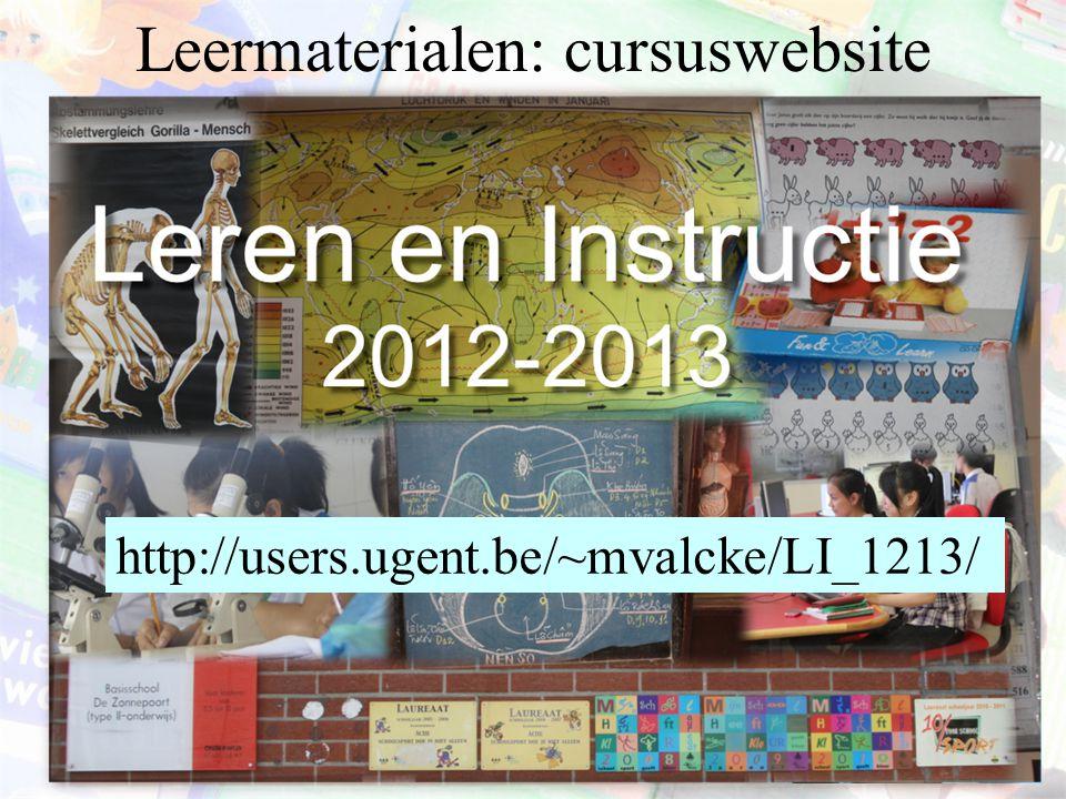 Leermaterialen: cursuswebsite