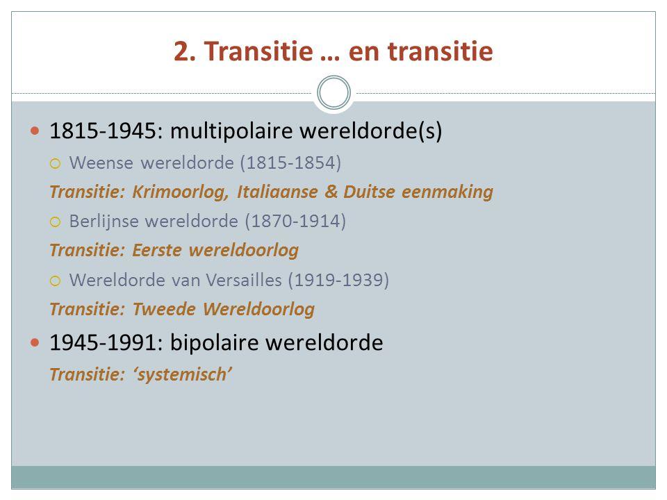 2. Transitie … en transitie