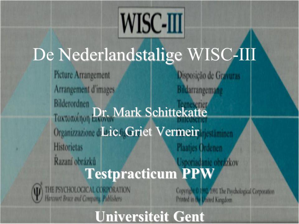 De Nederlandstalige WISC-III