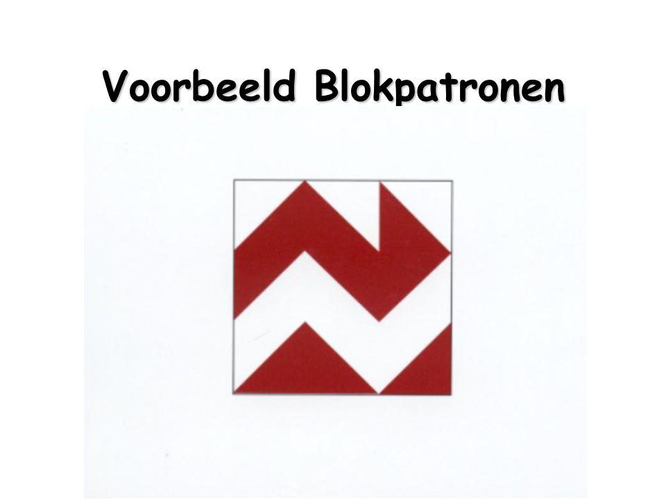 Voorbeeld Blokpatronen
