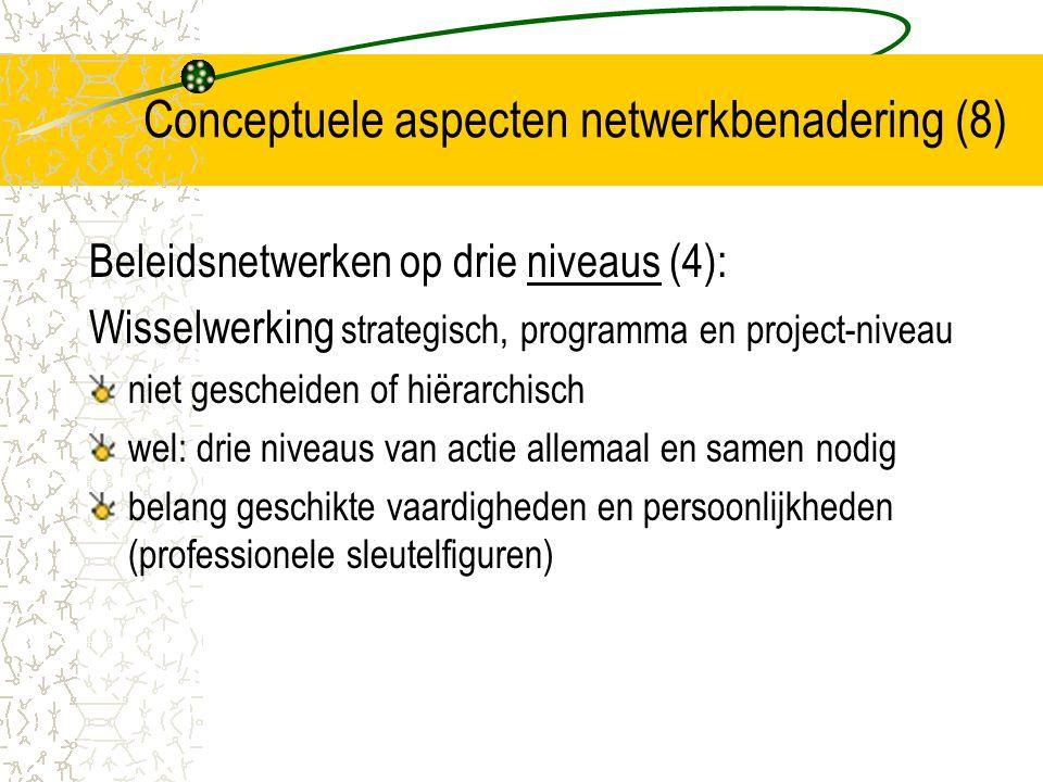 Conceptuele aspecten netwerkbenadering (8)