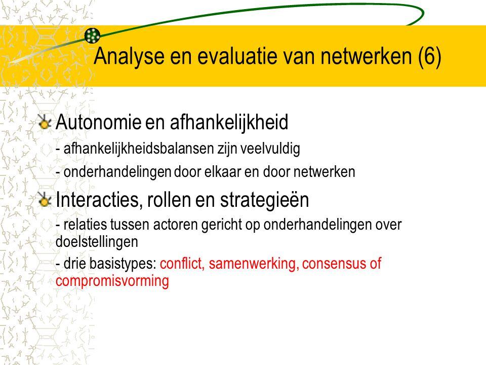 Analyse en evaluatie van netwerken (6)