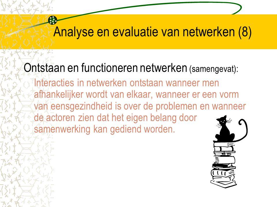 Analyse en evaluatie van netwerken (8)