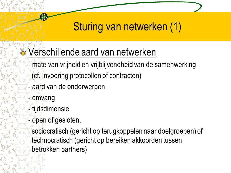 Sturing van netwerken (1)