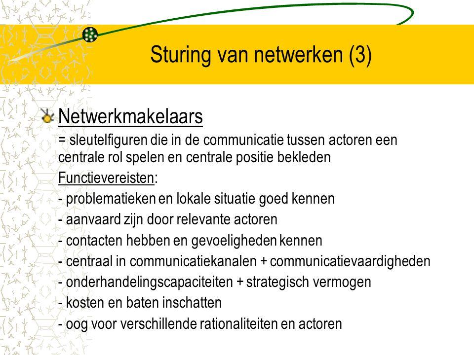 Sturing van netwerken (3)