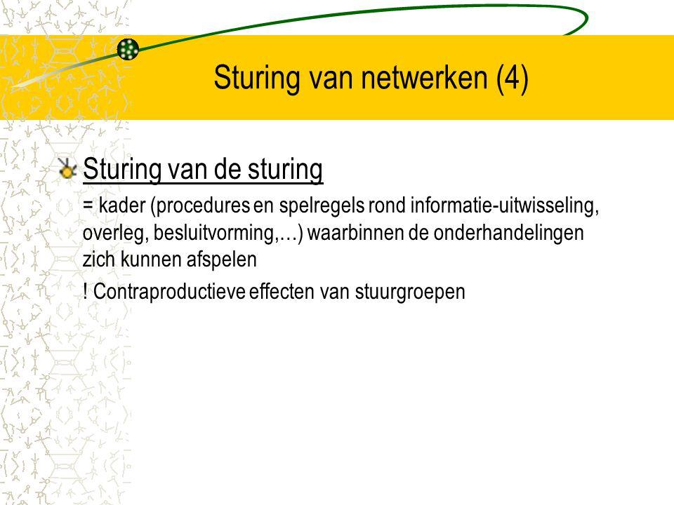 Sturing van netwerken (4)