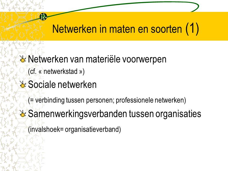 Netwerken in maten en soorten (1)