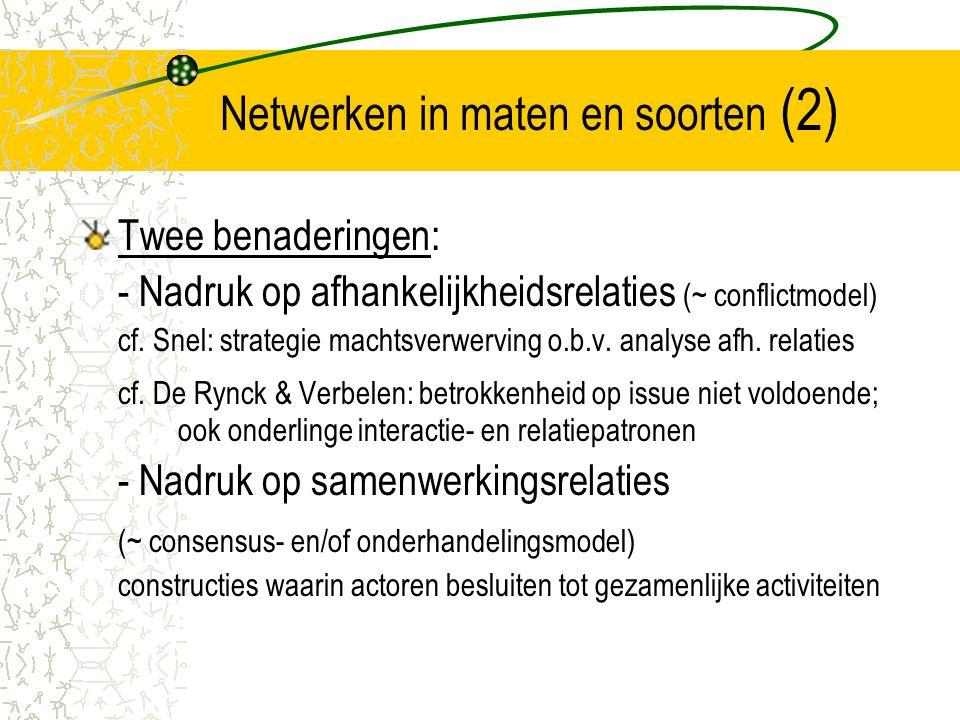 Netwerken in maten en soorten (2)