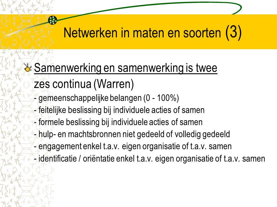 Netwerken in maten en soorten (3)
