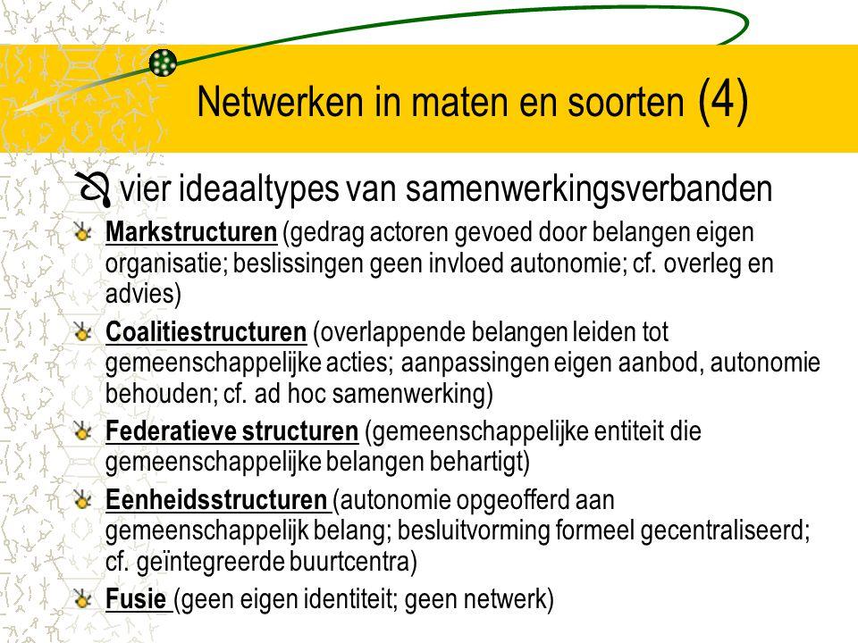 Netwerken in maten en soorten (4)
