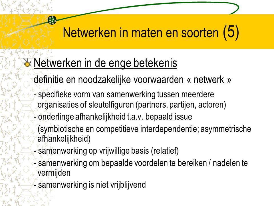 Netwerken in maten en soorten (5)