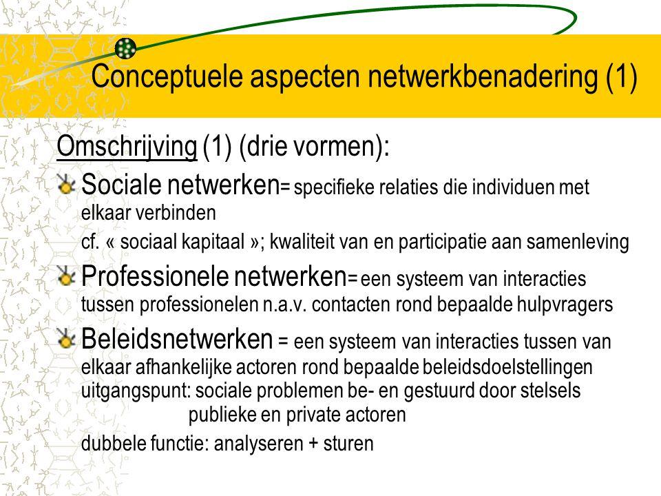 Conceptuele aspecten netwerkbenadering (1)