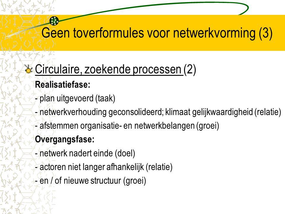 Geen toverformules voor netwerkvorming (3)
