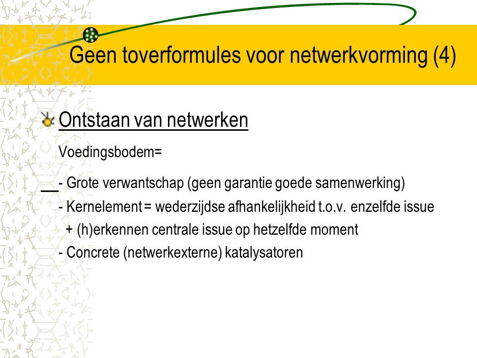 Geen toverformules voor netwerkvorming (4)