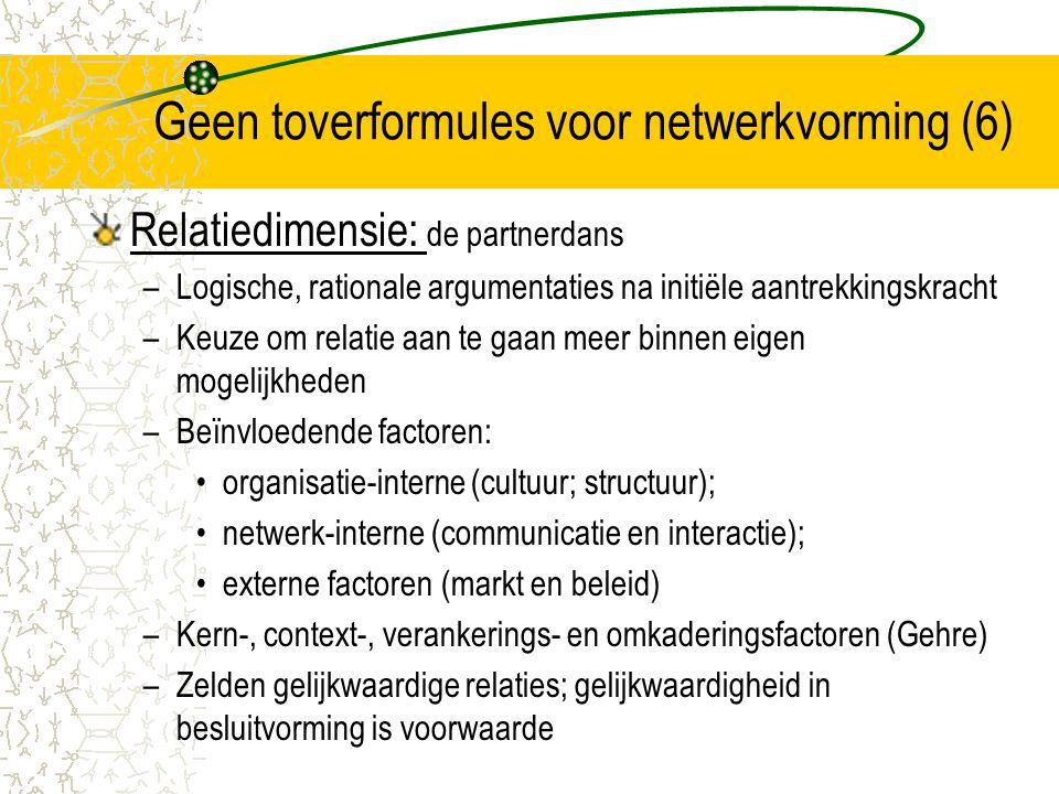 Geen toverformules voor netwerkvorming (6)