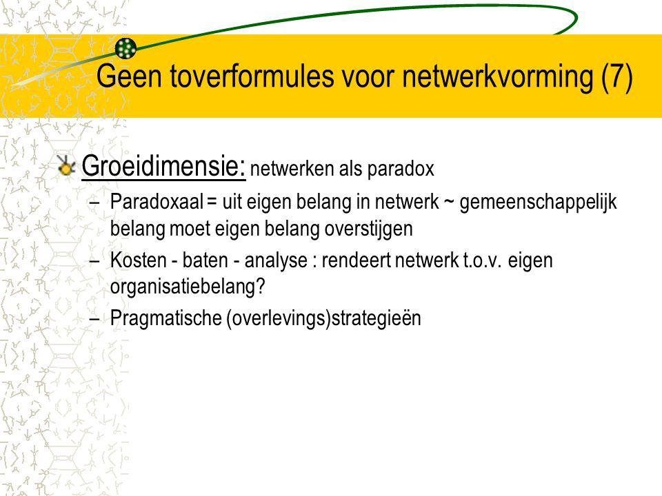 Geen toverformules voor netwerkvorming (7)
