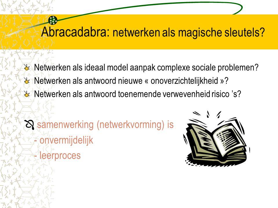 Abracadabra: netwerken als magische sleutels