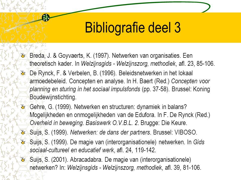 Bibliografie deel 3