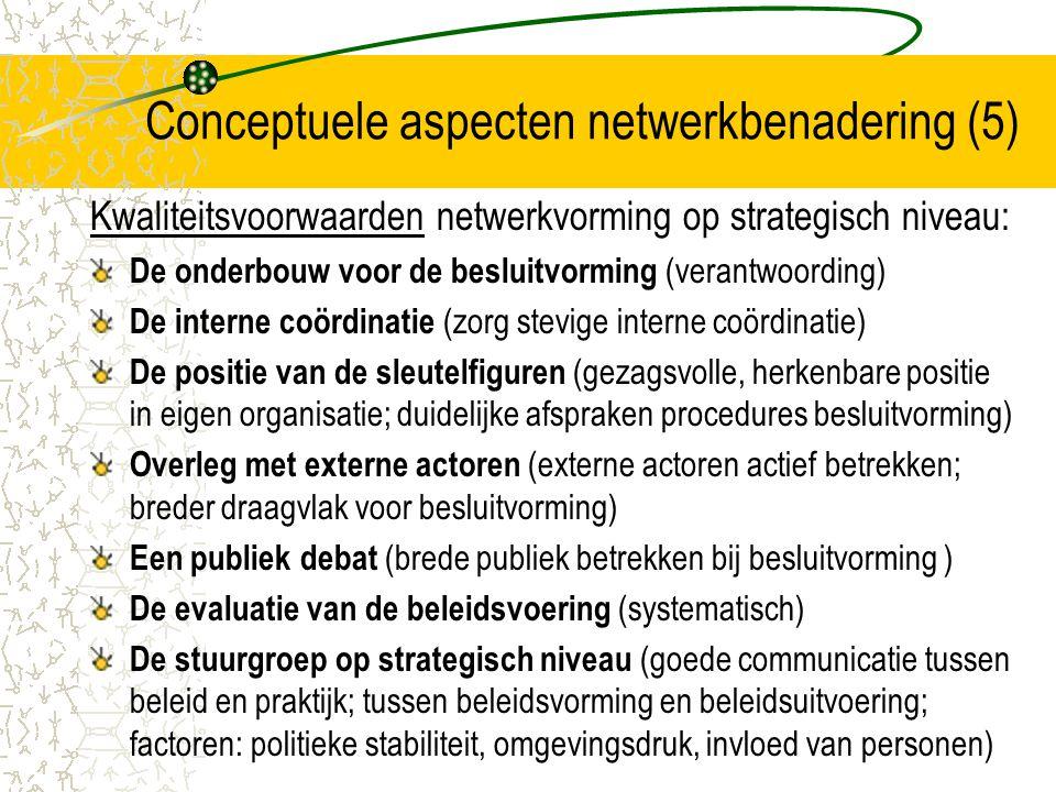 Conceptuele aspecten netwerkbenadering (5)