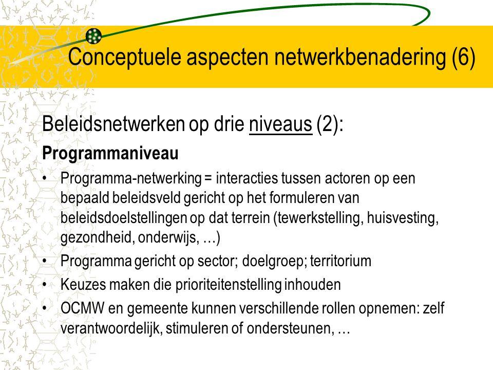 Conceptuele aspecten netwerkbenadering (6)