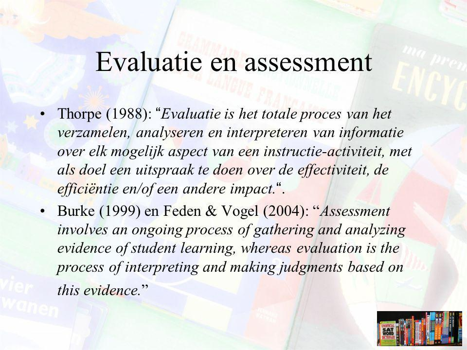 Evaluatie en assessment