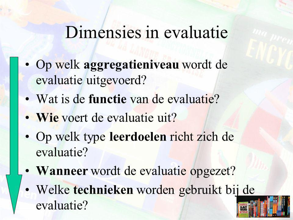 Dimensies in evaluatie